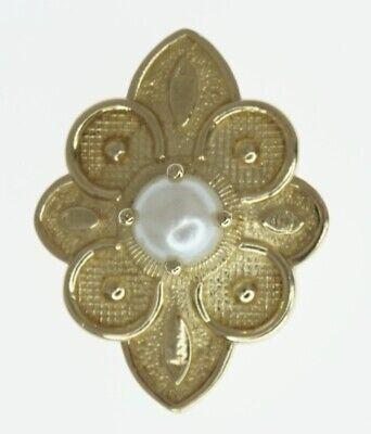 14K Yellow Gold Richard Glatter RGVS Slide Bracelet Charm Round Pearl Pointy