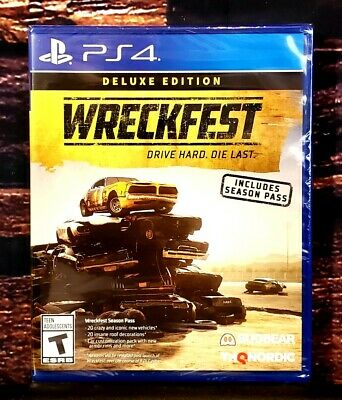Wreckfest Deluxe Edition - PS4 - Sony PlayStation 4 - Brand New - Sealed