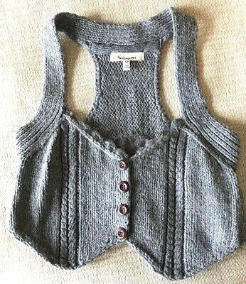 Gray Wool Vest - Gray Wool Crop Vest | Fashion Crop Top
