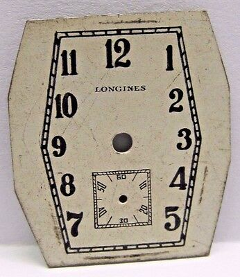 Antique Longines Watch Nice Old Dial 25.5 x 23 mm in size.