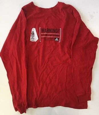 "Extreme L/s Shirt - Mens XL L/S Adidas Shirt- Preonwed- ""Warning Extreme Game Required"" Graphic"