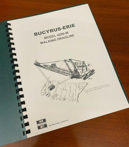 "BUCYRUS-ERIE Largest Dragline 4250-W ""Big Muskie"" Specs Book Diagrams 18p - 1966"
