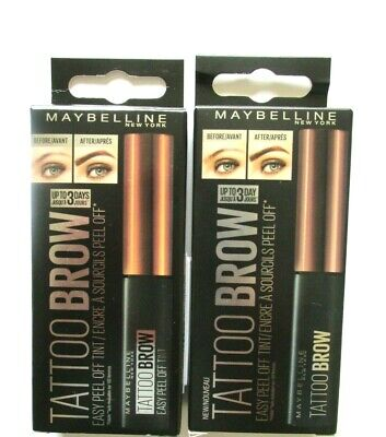 MAYBELLINE NEW YORK  TATTOO BROW EASY PEEL OFF TINT - various use menu