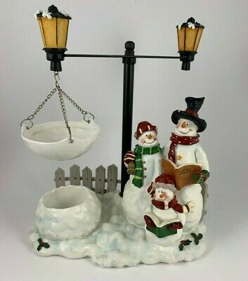 Yankee Candle Hanging Wax Tart Warmer Snowmen Caroling At Lamp Post Christmas