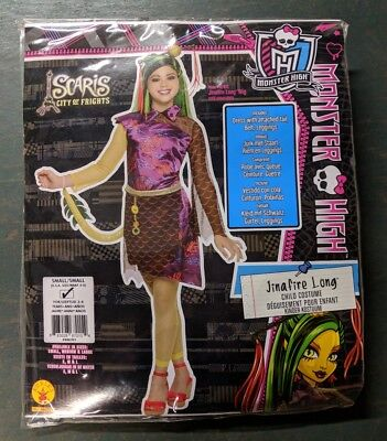 Monster High Jinafire Long Dragon Costume Dress/Tights Size Child's Small - Jinafire Long Costume