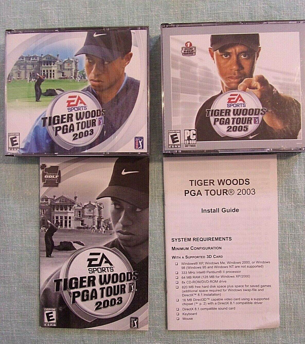 Computer Games - Tiger Woods PGA Tour 2003 & 2005 PC CD-ROM Golf Computer Games