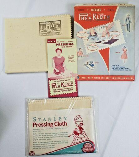 2 Vintage Pressing Cloth Stanley & Weaver Pres Kloth NOS Orig Packaging Ironing