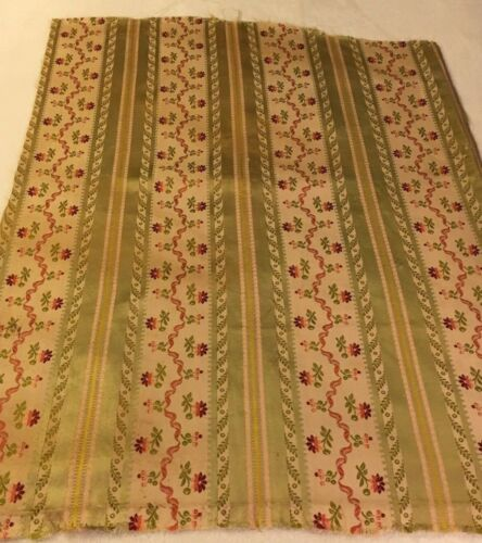 "Vintage French Silk Linen Fabric - 27"" X 24"""