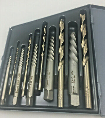 10 Pc Cobalt Drill 1 Thru 5 Extrador Usa Huot Index Case 10200