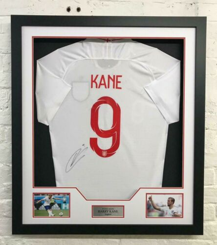 752f48b8f Harry Kane Signed   Framed ENGLAND Shirt 2018 WORLD CUP AFTAL COA (B)   513.91