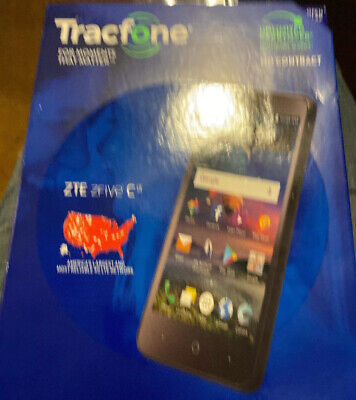 New Tracfone ZTE Zfive C 4G LTE 16GB Prepaid Smartphone Best Sell Fast Free (Best Touch Screen Music Player)