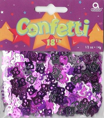1 PACK 18TH BIRTHDAY CONFETTI /  TABLE SPRINKLES PINK COLOUR TABLE DECORATIONS](18th Birthday Confetti)