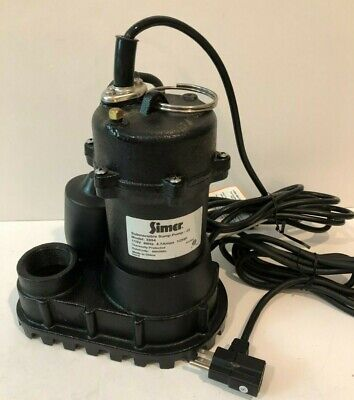 Simer 12 Hp Cast Iron Submersible Sump Pump Tether Switch 4200 Gph Free Ship