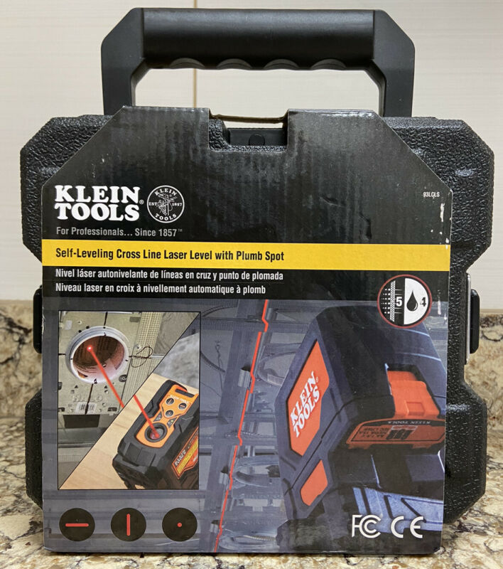 KLEIN TOOLS 93LCLS Self-Leveling Cross Line Laser Level With Plumb Spot NEW