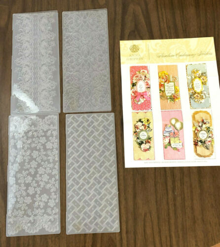Anna Griffin Slimline Embossing Folders NEW perfect for Card Making