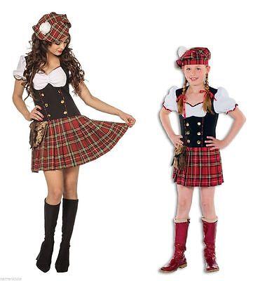 Schottenkostüm Schotte Schottin Scottish Lady Girl Rock Sexy Kostüm Kleid (Sexy Schottenrock Kostüm)