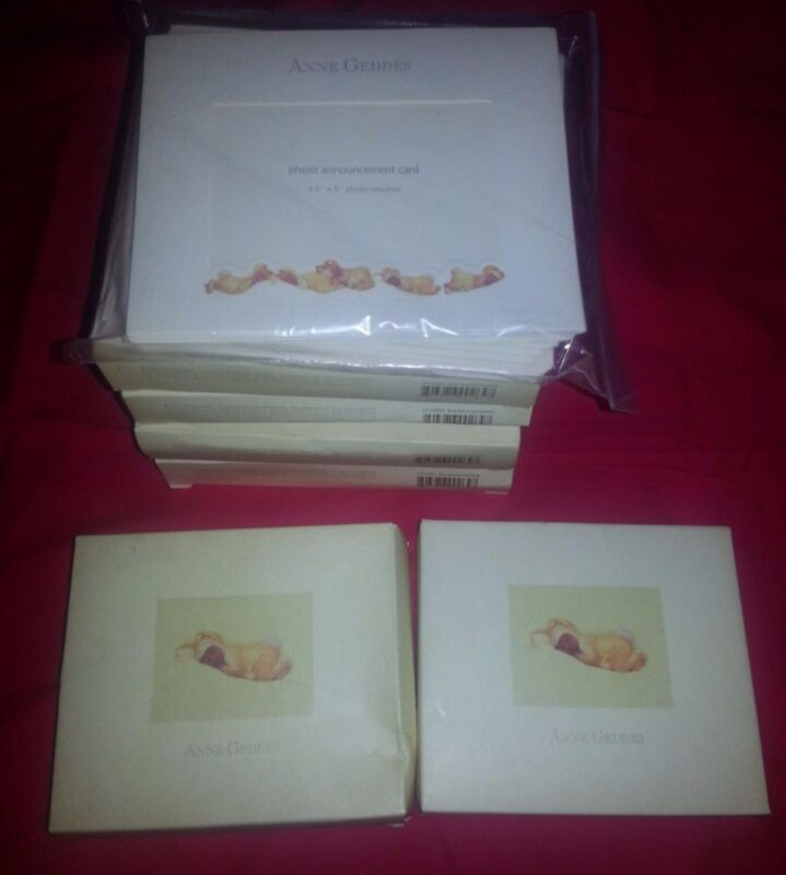 Anne Geddes Birth Announcements & matching Thank You Cards (7 boxes total)
