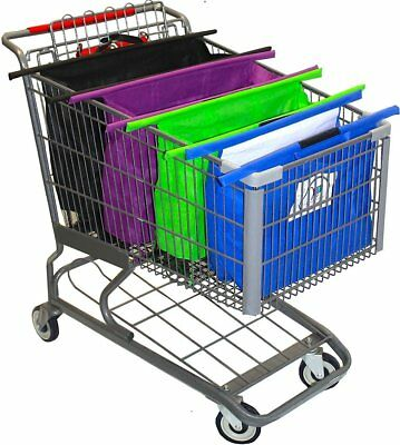 Reusable Shopping Bags - Trolley Bags - Grocery Cart Tote - Storage Set Of 4