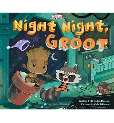 Marvel Guardians of the Galaxy Night Night Groot Children Bedtime Book Hardcover