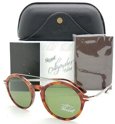 NEW PERSOL sunglasses PO3172S 107252 51mm Havana Green Calligrapher round (Persol Sunglasses Havana)