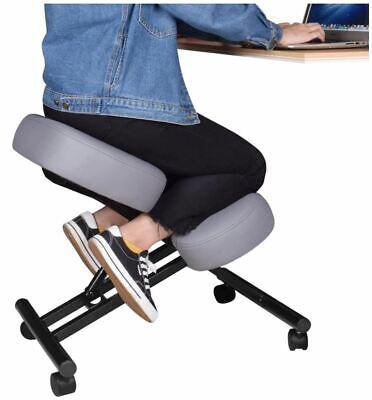 Dragonn Ergonomic Kneeling Chair With Angled Seat - Grey Open Box