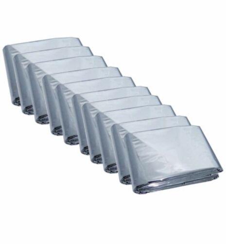 100 Pack Emergency Solar Blanket Survival Safety Insulating Mylar Thermal Heat