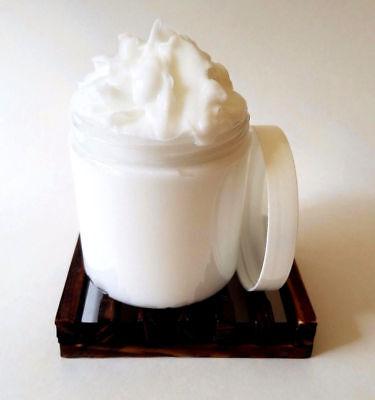Aloe Body Milk - Unscented - Goats Milk Body Cream - With Shea Butter Honey & Aloe - 8 oz