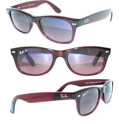 Ray Ban 2132 Sonnenbrille POLARISIERT LILA NEW WAYFARER DAMEN HERREN RB 2140 OVP