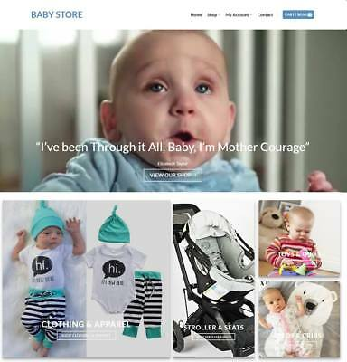 Baby Store Website For Sale - Earn 594 A Sale. Free Domainhosting