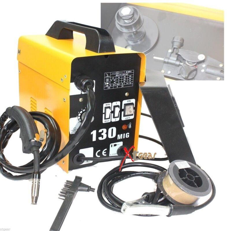 120AMP 110V Flux Core Auto Feed MIG130 Welding Machine Spool Wire Fan Welder