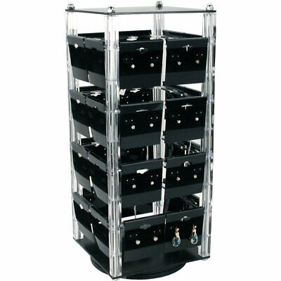 Revolving Rotating Earring Display Jewelry Counter Top With 100 2 Cards
