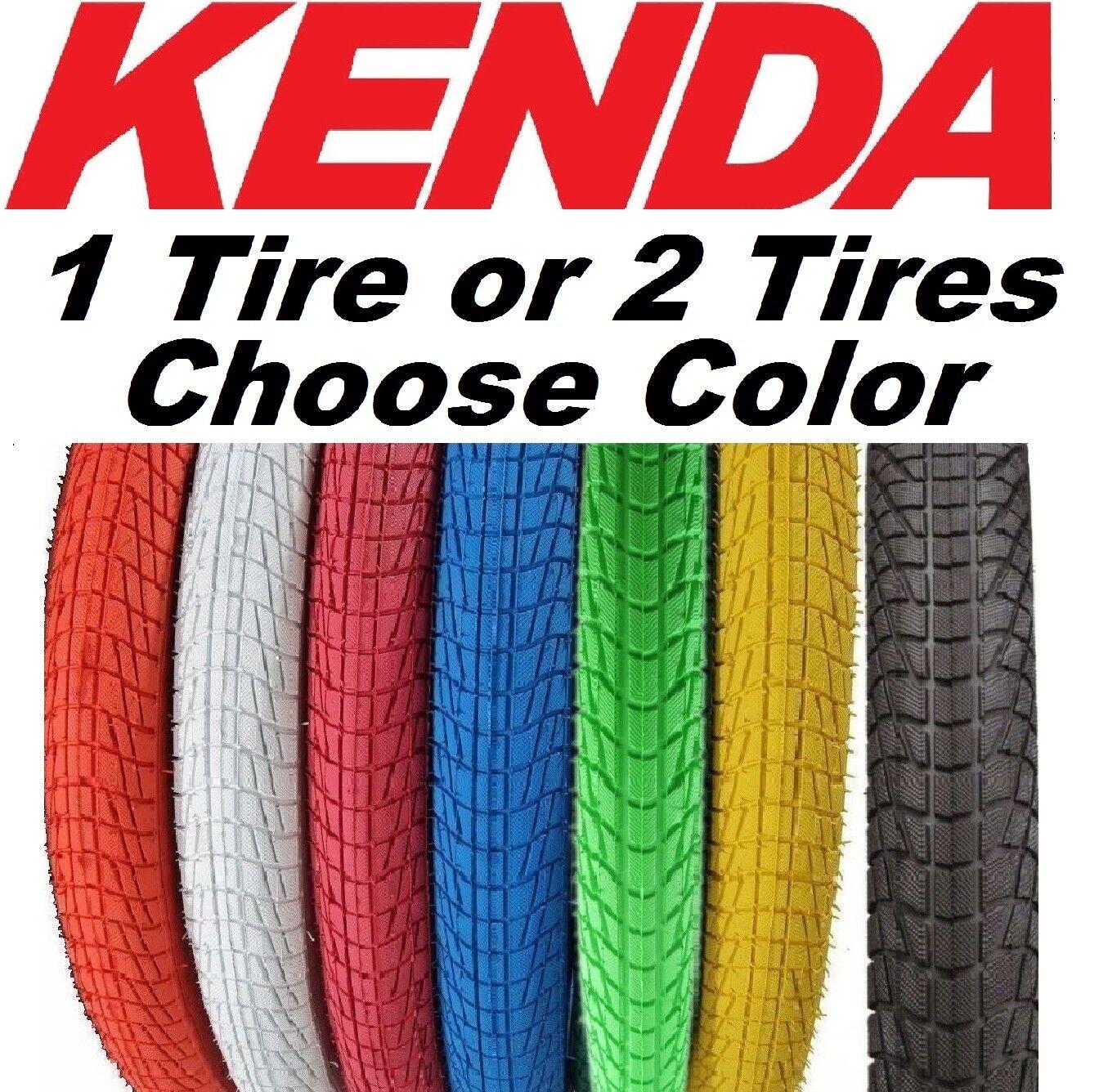 BMX Bike Tyres 20 x 1.95 inch BMX Colourful Kenda k-907 Krackpot Coloured Street