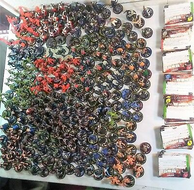 308 HorrorClix Base Set Figures and Cards lot