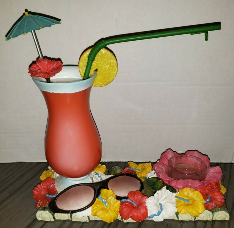 Yankee Candle Tart Burner Beach Drink Summer Theme Hanging Warmer No Hang Dish!
