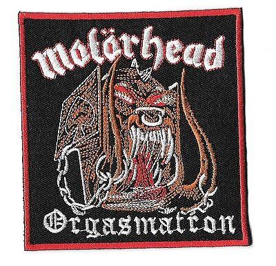 "New Motorhead 'Orgasmatron' 3 3/4 X 4""  Inch Iron on Patch Free Shipping"