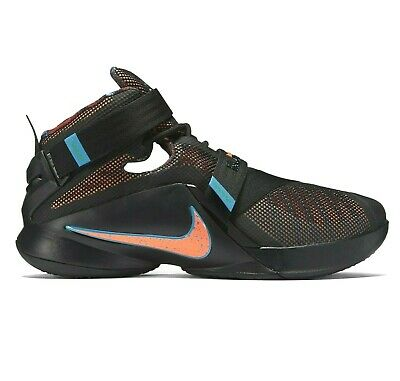 8bdb015d63d Nike LeBron James Soldier IX OKC Hyper Orange Black 749417 084 Mens Size 13