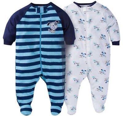 GERBER BABY BOYS 2-Piece Sleep 'N Plays Zippered Baby Shower