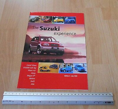 Suzuki Experience Full Range Catalogue & Price Guide 1999 opens up to a poster