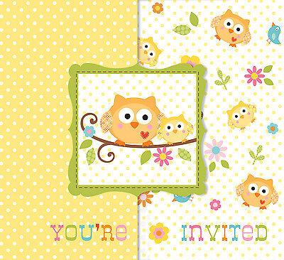 8 X Happi Baum Baby Dusche Einladungskarten Karten Baby Einladungen