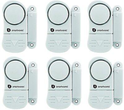6 er Set Türalarm Fensteralarm Einruchschutz Fenstersicherung Smartwares SC07/3