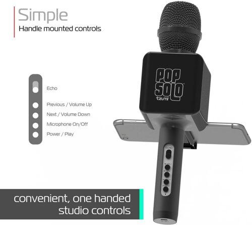 Bluetooth Karaoke Microphone |POP SOLO | By Tzumi | 100% Fast Free Shipping