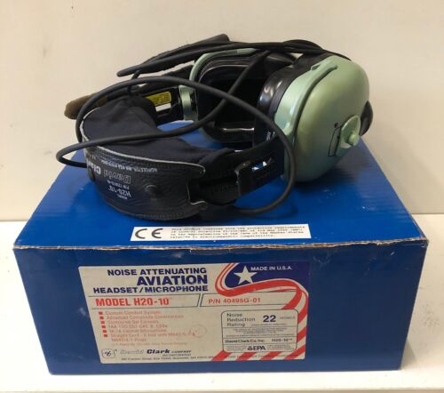 David Clark Noise Attenuating Aviation Headset/Microphone H20-10