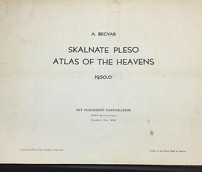 1950.0 Skalnate Pleso Atlas of the Heavens, A. Becvar; Complete Set - Rare