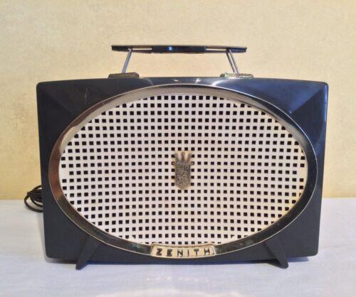 Vintage Zenith Model Y513 Working Tube Radio Dark Gray