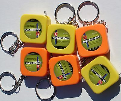 3 Ft Measuring Tape Keychains ( Lot Of 36 ) 1m/3ft Plastic