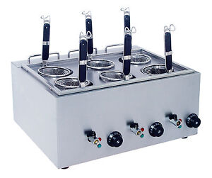 Pasta Boiler or Noodle Cooker with baskets can also be used as a bain marie