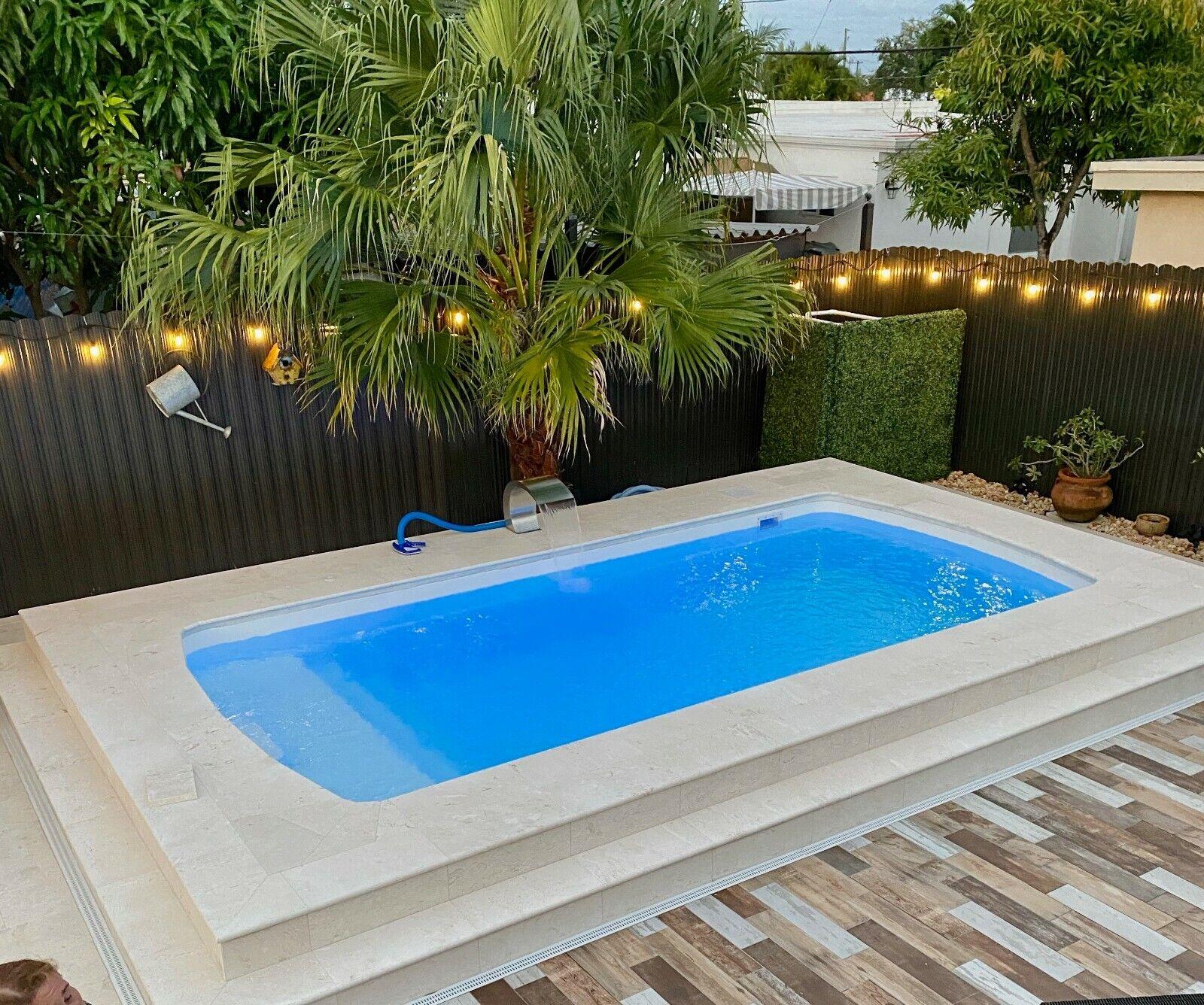 Fiberglass Inground Swimming pool shell Praia 17