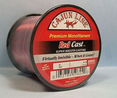 CAJUN LINE RED PREMIUM MONOFILAMENT FISHING LINE (1/4lb spool)