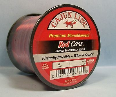 - CAJUN LINE RED PREMIUM MONOFILAMENT FISHING LINE (1/4lb spool)