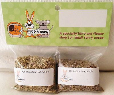 Used, Dill and Fennel Seeds 2 oz Bunny Rabbit Guinea Pig Chinchilla Food Treats for sale  Porter Ranch